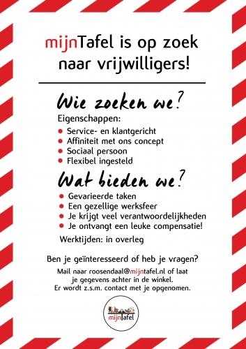 mijnTafel Roosendaal is op zoek naar vrijwilligers!