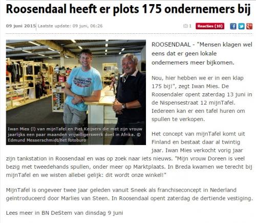 Roosendaal heeft er plots 175 ondernemers bij