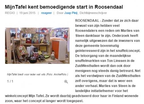 MijnTafel kent bemoedigende start in Roosendaal