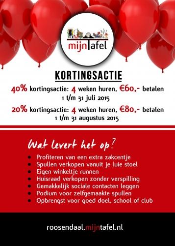 Kortingsactie mijnTafel Roosendaal